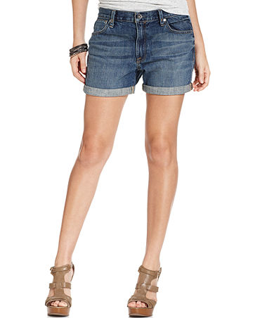 Calvin Klein Jeans, Cuffed Denim Shorts Shorts Women