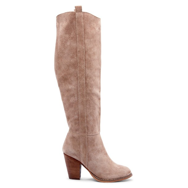 Sole Society Cleo Heeled Tall Boot - Taupe-5.5