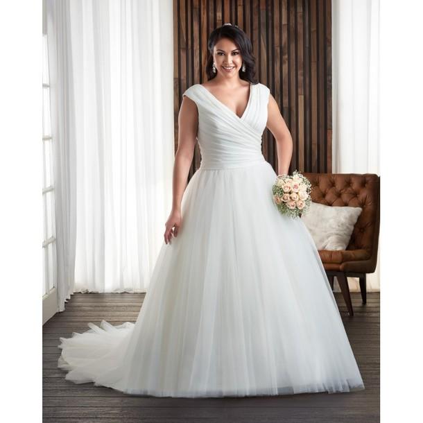 82711988957 dress necklace ruffle white tulle skirt plus size