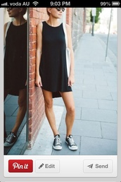 dress,casual,nice,black dress,casual dress,shift dress,tank dress