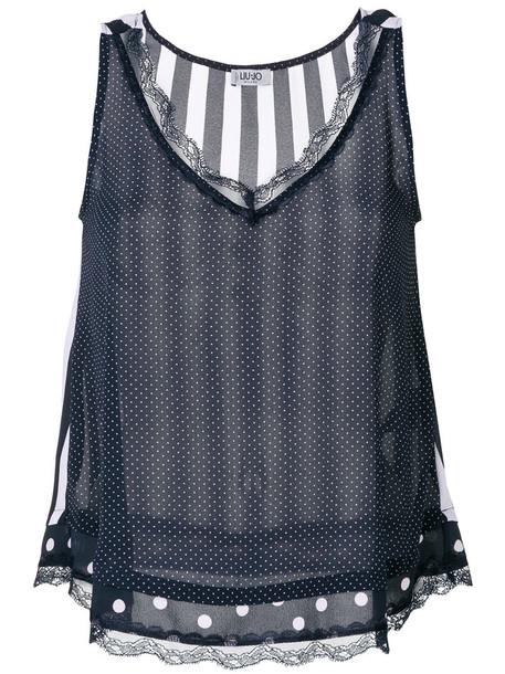 LIU JO top vest top women spandex blue