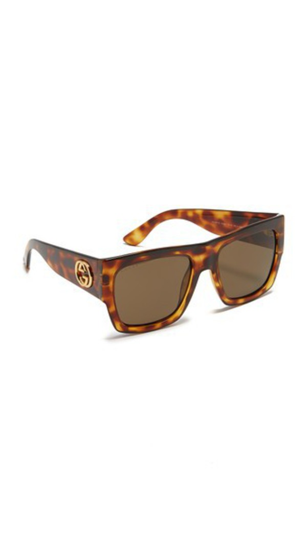 255ec366d060 Gucci Damascato Cat Eye Sunglasses - Mother Of Pearl Brown - Wheretoget