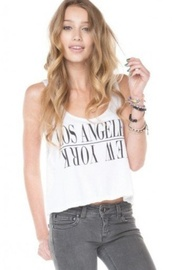 shirt,los angeles,los angeles top,new york city,brandy melville,cotton,crop tops,white,la,top,new york shirt,los angelas