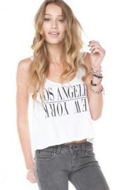 shirt,los angeles,los angeles top,new york city,brandy melville,cotton,crop tops,white,la,top,new york shirt,los angelas