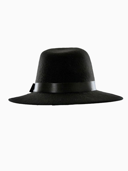 Black felt fedora (women or men)