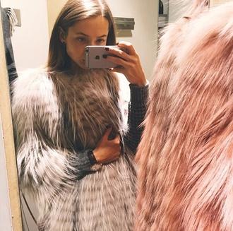 coat fur coat pink fur coat grey fur coat fluffy