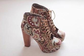 shoes high heels print shoes