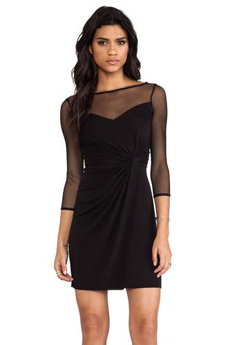 dress mesh dress little black dress