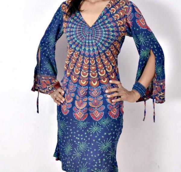 Maternity Dress Tunics For Women Plus Size Bohemian Gypsy Dress