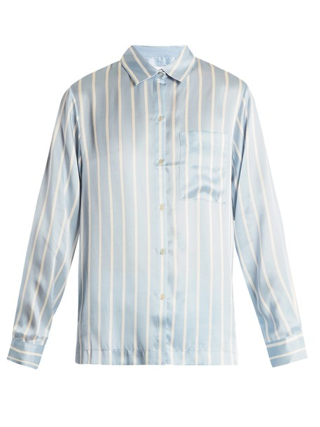 Asceno top silk blue
