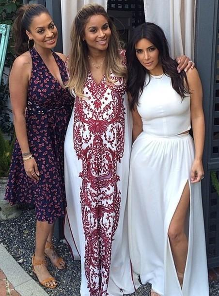 Maxi Dress Kim Kardashian May 2017