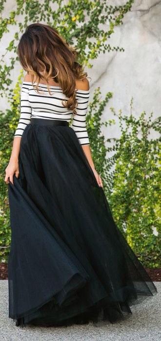 skirt long tulle skirt