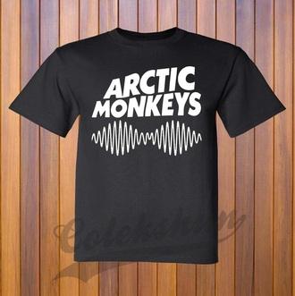t-shirt black arctic monkeys tour t-shirt
