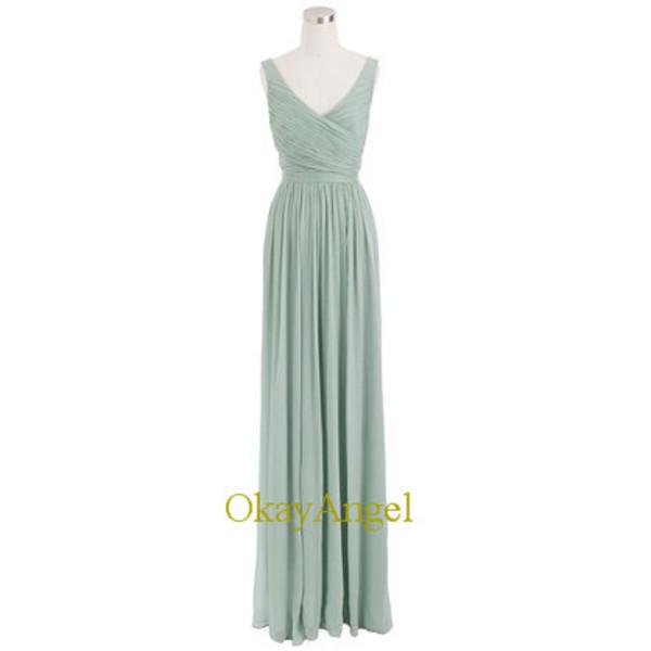 dusty shale bridesmaid dress long chiffon dress long bridesmaid dress long bridesmaid dress dress