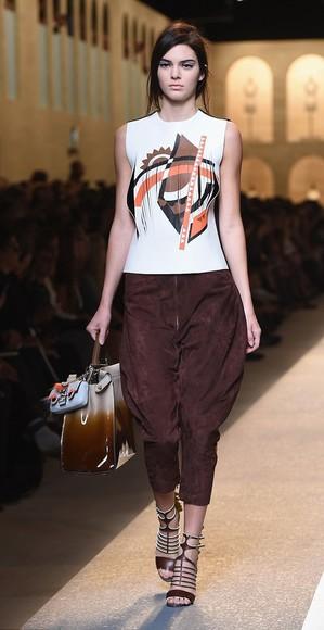 kendall jenner pants fashion week 2014