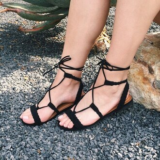 shoes sandals festival desert black black sandals gladiators braided braid boho bohemian gojane