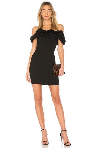 dress off the shoulder black