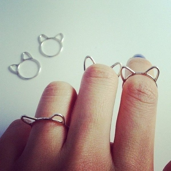 jewels cat ears ring