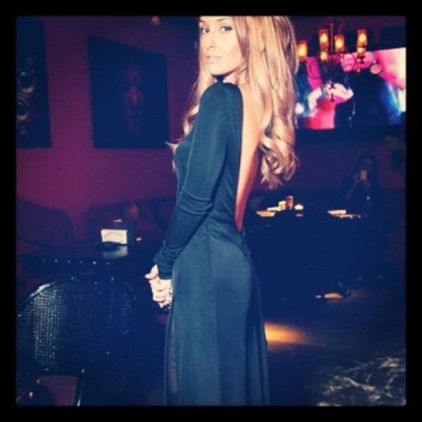 dress open back black black dress