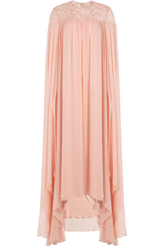 gown silk rose dress
