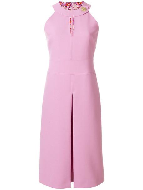 Emilio Pucci dress women spandex wool purple pink