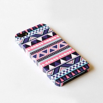 jewels purple pink white iphone iphone case iphone 5 case phone phone cover aztec tumblr