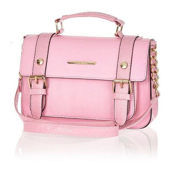 River Island Light pink mini satchel - Polyvore