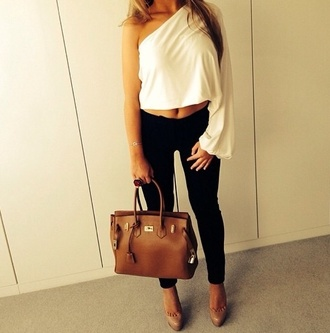 zara white fashion blouse ootd ootn style night topshop urban outfitters sleeved look