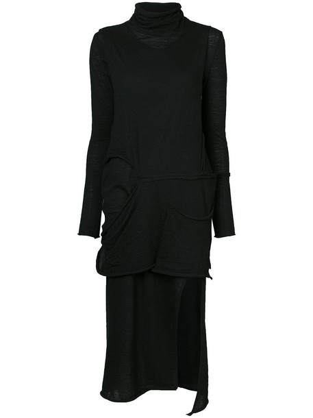 Barbara I Gongini dress women black wool