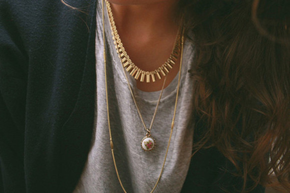 jewels necklace gold necklaces layered necklaces gold spikes gold necklace gold spiked necklace charm white charm necklace