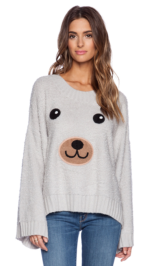 Wildfox couture teddy bear sweater in smoky bear from revolveclothing.com
