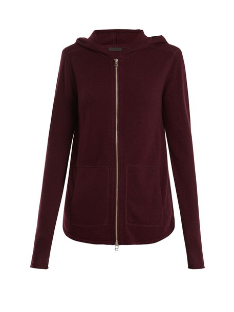 ATM sweater zip wool burgundy