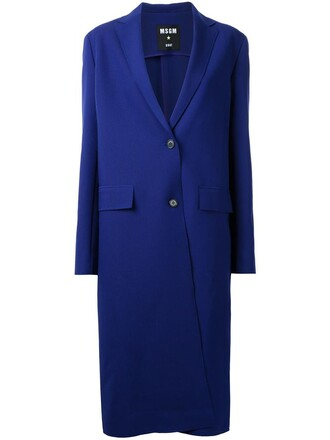 coat women spandex blue