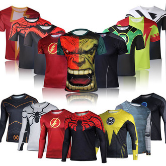 shirt sportswear compression shirt t-shirt superman shirt