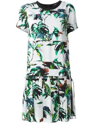 dress shift dress floral white