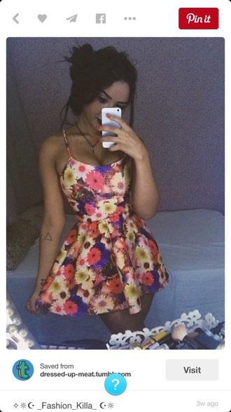 dress flowers floral dress