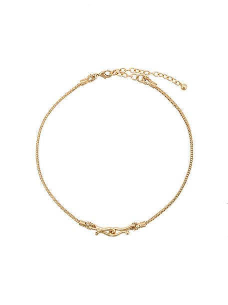 Eddie Borgo women necklace gold grey metallic jewels