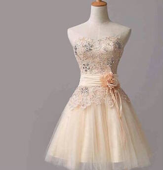 dress prom dress gold pink dress flower dress cute floral pretty sparkly dress beautiful dresss lace dress