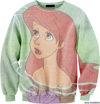 sweater ariel mermaid