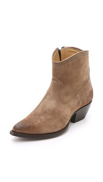 short booties suede shoes