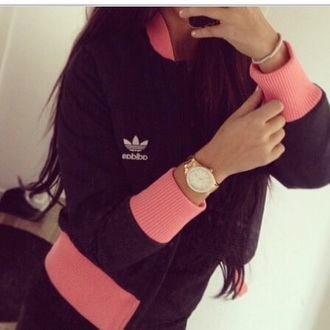 jacket adidas adidas originals baseball jacket bomber jacket pink black