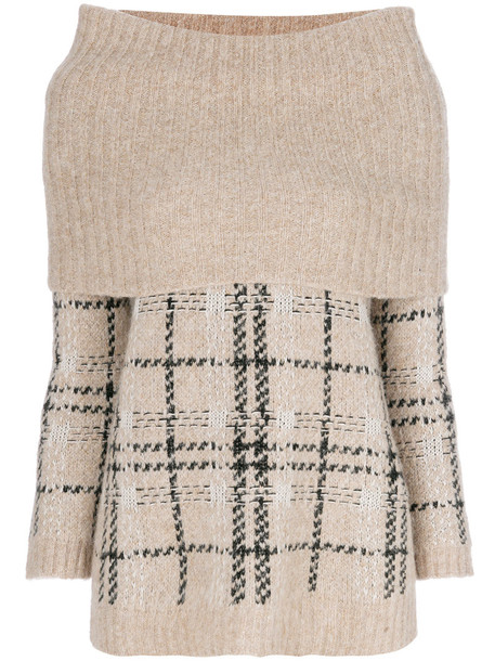 Max Mara Studio jumper women nude wool sweater