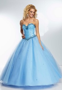 Blue beading ball gown quinceanera dresses, homecoming dresses 2014, prom dresses, sweet 16 dresses