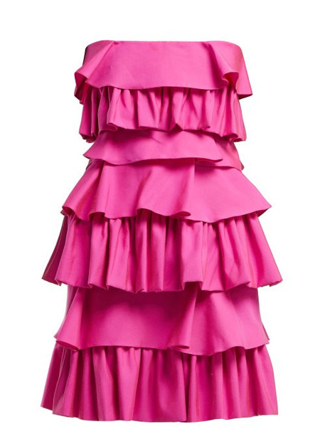 Emilio De La Morena - Gloria Tiered Cotton Dress - Womens - Pink