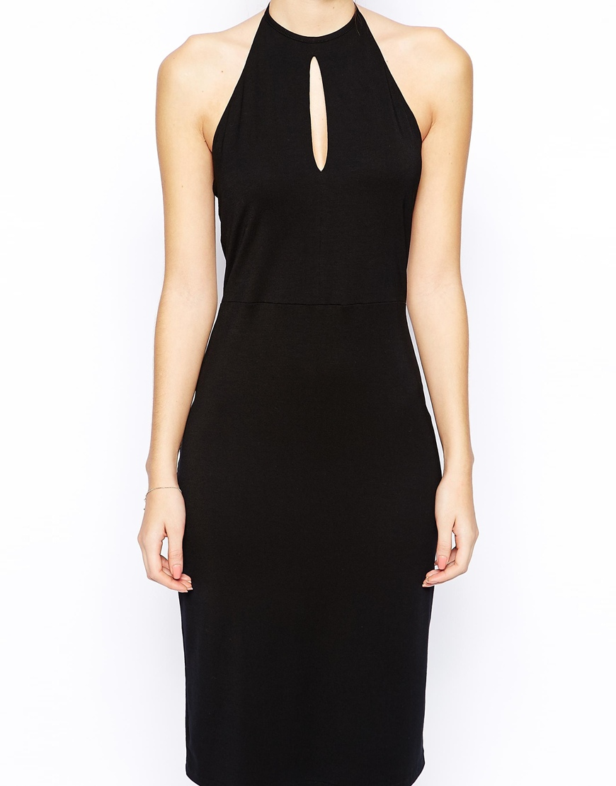 Love Halter Midi Bodycon Dress at asos.com
