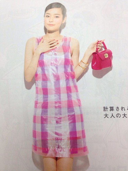 one piece pink dress onepiece checkered check