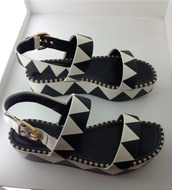 shoes,sandals,platform shoes,triangles,aztec,lovely,buckles,trendy