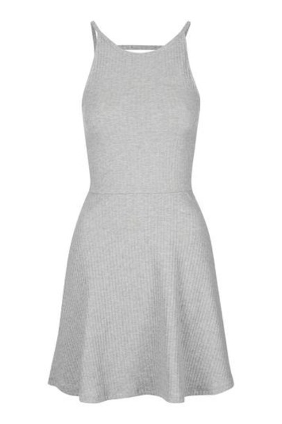 dress tunic dress back strappy grey