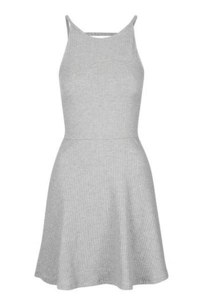 Topshop dress tunic dress back strappy grey