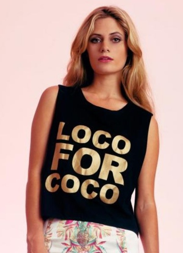 tank top gold loco for coco
